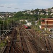 Railway in Town Siegen, North Rhine-Westphalia, Germany — Stock Photo