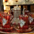 Traditional Turkish tea set at Grand Bazaar in Istanbul — Stock Photo #6243734