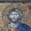 Mosaic of Jesus Christ in the old church of Hagia Sophia in Istanbul, Turke — Stock Photo