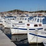 Fishing boats in Croatian town Murter — Stock Photo
