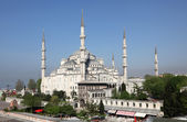 The famous Sultan Ahmed Mosque (Blue Mosque) in Istanbul, Turkey — Foto de Stock