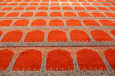 Carpet of the Suleymaniye mosque in Istanbul. — Foto de Stock