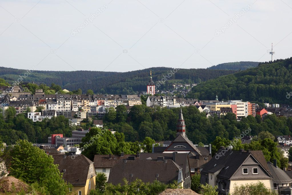 Town Siegen in North Rhine-Westphalia, Germany — Stock Photo #6243660