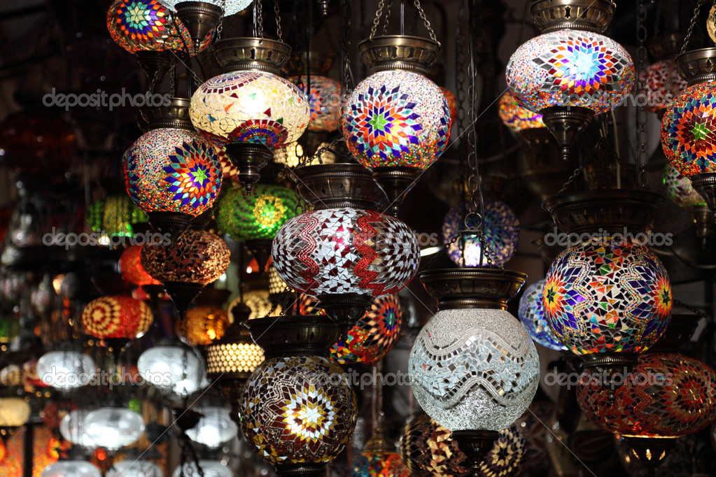 Handmade Turkish lanterns for sale at Grand Bazaar in Istanbul