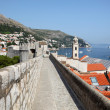 Old fortified city wall of Dubrovnik, Croatia — Stock fotografie