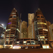 Stock Photo: Night scene at Dubai Marina, United Arab Emirates