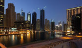 Dubai Marina at night, United Arab Emirates — Stockfoto