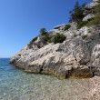 Royalty-Free Stock Photo: Rock and crystal clear water at the Adriatic coast in Croatia