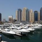 Yachts at Dubai Marina — Stock Photo