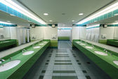 Interior of a modern public restroom — Stock Photo