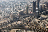 Aerial view of a highway junction in Dubai — Stock Photo