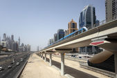 Dubai Metro Line — Stock Photo
