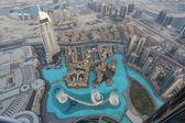 Fuente de dubai como se ve desde el burj khalifa — Foto de Stock