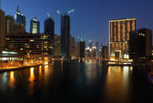 Dubai Marina at night — 图库照片