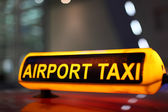 Airport Taxi sign — Stock Photo