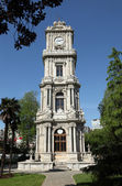 Clock tower at Dolmabahce Palace in Istanbul — Stock fotografie