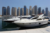 Yachts at Dubai Marina — Stock Photo