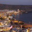 Los Cristianos at night. Canary Island Tenerife, Spain — Stock Photo