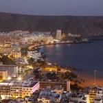 Los Cristianos at night. Canary Island Tenerife, Spain — Stock Photo