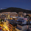 Los Cristianos at dusk. Canary Island Tenerife, Spain — Stock Photo #6376151