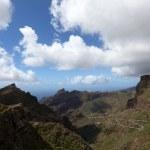 View towards the Masca ravine on Canary Island Tenerife, Spain — Stock Photo
