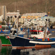 Fishing boats in the harbour of Los Cristianos, Tenerife Spain — Stock Photo
