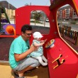 Father with little daughter on the playground — Stock Photo #6376734