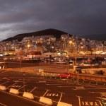 Los Cristianos at dusk. Canary Island Tenerife, Spain — Stock Photo