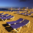 Playa de los Cristianos at dusk. Canary Island Tenerife, Spain — Stock Photo