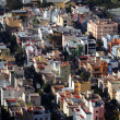 Aerial view of a resiential district in a Spanish town — Stock Photo
