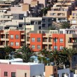 Colorful residential buildings in Spain — Stock Photo