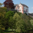 Castle Weilburg and river Lahn in Hesse, Germany — Stockfoto