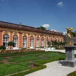 Golden sculpture in the Orangery of Residence Weilburg, Hesse Germany — 图库照片