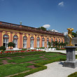 Golden sculpture in the Orangery of Residence Weilburg, Hesse Germany - Stock Photo