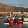 Fishing boats in the harlbor of Los Cristianos, Canary Island Tenerife, Spa — Stock Photo #6377828