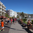 Promenade in Los Cristianos, Canary Island Tenerife, Spain. Photo taken at — Stock Photo