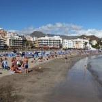 Playa de Los Cristianos beach, Canary Island Tenerife, Spain. Photo taken a — Stock Photo #6377840