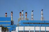 Chimneys of a modern power station — Stock Photo