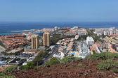 Pohled přes las americas, kanárské ostrov tenerife, španělsko — Stock fotografie