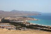 Aerial view of Costa Calma, Fuerteventura Spain — Stock Photo