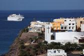 Ferry approaching Morro Jable, Fuerteventura Spain — Stock Photo