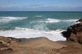 Yalnız kumsalda kanarya adası fuerteventura, i̇spanya — Stok fotoğraf