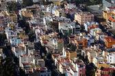 Widok dzielnicy resiential w mieście hiszpański — Zdjęcie stockowe