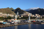 Industrial port of Santa Cruz de Tenerife, Spain — Stockfoto