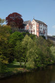 Castle Weilburg and river Lahn in Hesse, Germany — Stock Photo