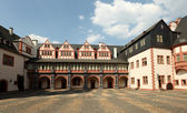 Piazza interna del castello weilburg, hessen, germania — Foto Stock