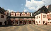 Piazza interna del castello weilburg, hessen, germania — Foto Stock