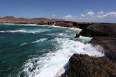 Rocky coastline of the Canary Island Fuerteventura, Spain — Stock Photo
