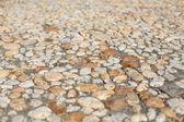 Kullersten trottoar i en medeltida tysk stad — Stockfoto