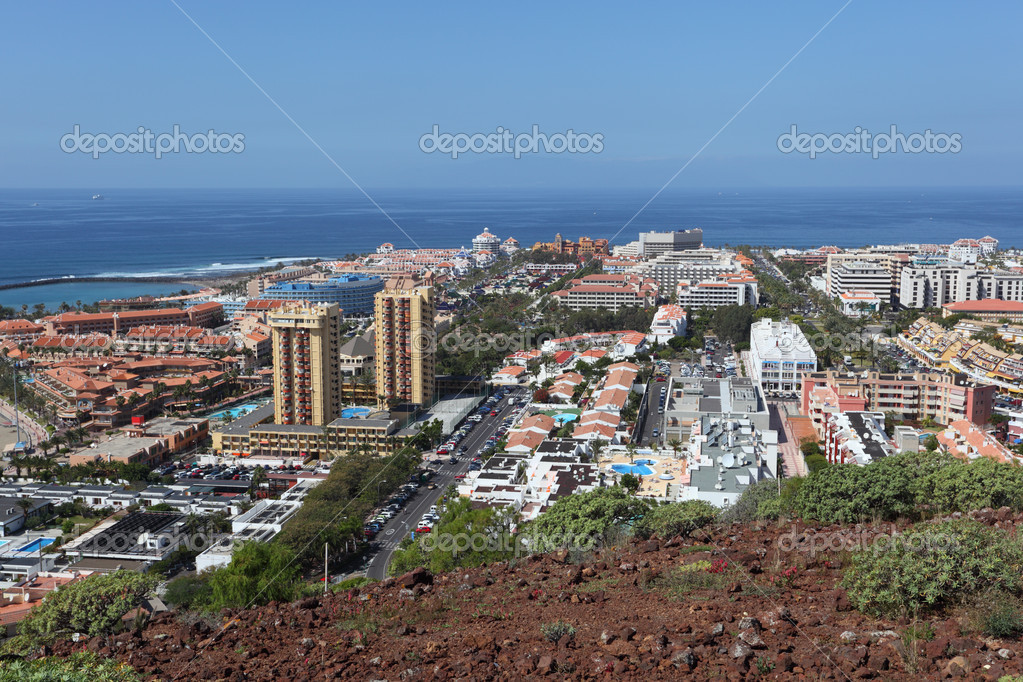 View over Las Americas, Canary Island Tenerife, Spain  Stock Photo #6376547